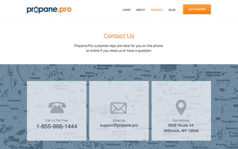 Screenshot of Contact Page propane.pro - Propane.Pro - Get The Best Deals on Propane - captured Oct. 3, 2014