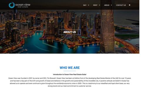 Screenshot of About Page oceanviewdubai.com - About Us   - captured Feb. 27, 2017