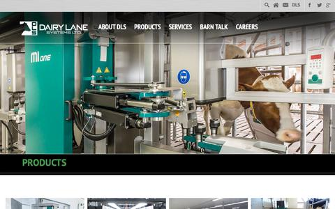 Screenshot of Products Page dairylane.ca - Products Archive » Dairy Lane Systems - captured Dec. 19, 2018