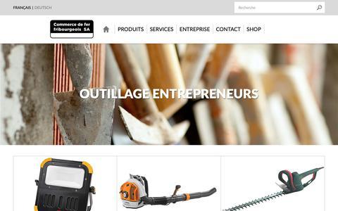 Screenshot of Home Page cdff.ch - Commerce de fer fribourgeois SA, votre partenaire pour la construction - captured Sept. 29, 2018