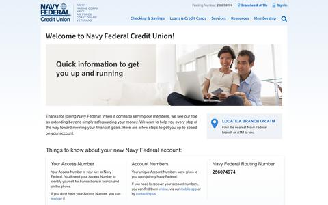 Welcome to Navy Federal Credit Union! | Navy Federal Credit Union