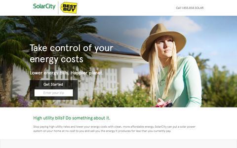 Screenshot of Landing Page solarcity.com - Best Buy Direct | SolarCity - captured Aug. 17, 2016