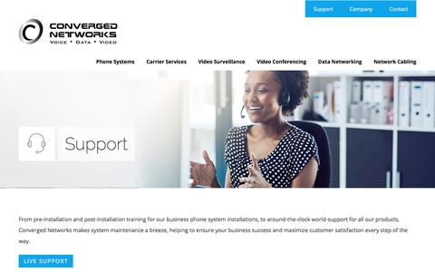 Screenshot of Support Page converged-networks.com - Support - converged-networks.com - captured Aug. 26, 2017