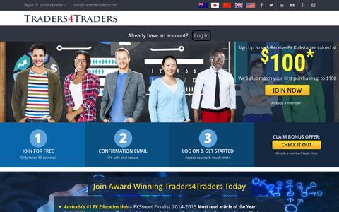 Screenshot of Signup Page traders4traders.com - Traders4Traders               Sign Up | Traders4Traders - captured Nov. 29, 2016
