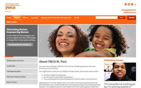 Screenshot of About Page ywcaofstpaul.org - Who we are | YWCA St. Paul | YWCA St. Paul - captured July 27, 2018