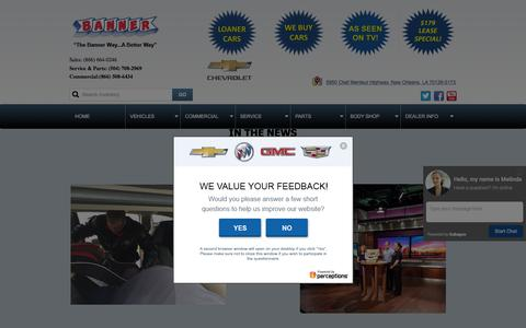 Screenshot of Press Page bannerchevy.com - Banner Chevrolet - captured Feb. 7, 2016