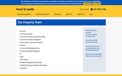 Screenshot of Team Page pearl-coutts.co.uk - Our Property Team   Pearl & Coutts Property Team   London - captured Oct. 2, 2014