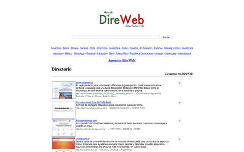 Screenshot of Home Page direweb.com - DireWeb - Directorio Wed y Buscador - captured June 11, 2016