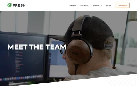 Screenshot of Team Page freshconsulting.com - Team - Fresh Consulting - captured June 20, 2018