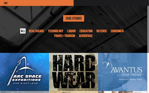 Screenshot of Case Studies Page signaturebrandfactory.com - Case Studies - captured Nov. 5, 2014