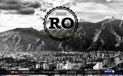 Screenshot of Home Page ronylaforest.com - RO | DISEÑO Y SOLUCIONES WEB - captured Sept. 17, 2015