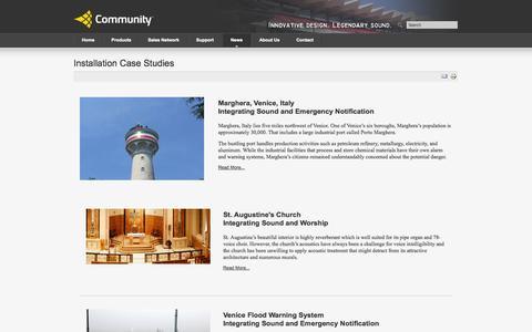 Screenshot of Case Studies Page communitypro.com - Installation Case Studies - captured Oct. 31, 2014