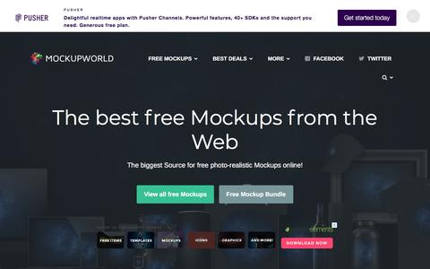 Screenshot of Home Page mockupworld.co - Mockup World | The best free Mockups from the Web - captured June 13, 2018