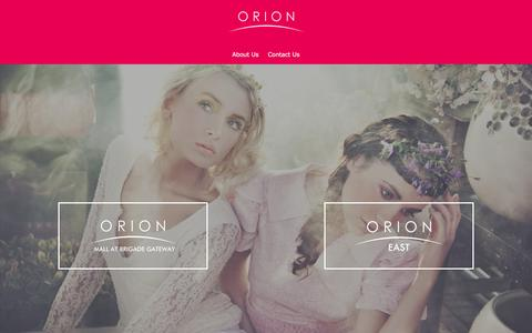 Screenshot of Home Page orionmalls.com - Orion Malls - captured Jan. 20, 2016