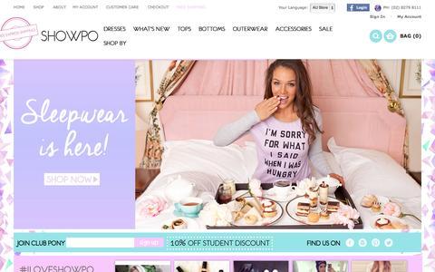 Screenshot of Home Page showpo.com - Online Fashion, Dresses & Clothes Shopping     SHOWPO Fashion Online Shopping - captured Sept. 19, 2014