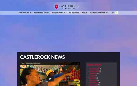 Screenshot of Press Page c-rock.com - News   Construction & Real Estate San Antonio, Bastrop, Austin & Houston   Castle Rock Communities - captured Jan. 26, 2016