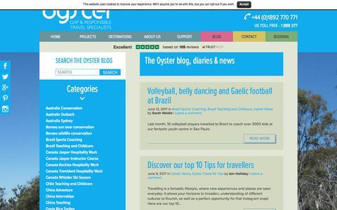 Screenshot of Press Page oysterworldwide.com - Blog Archive - Oyster Worldwide - captured June 14, 2017