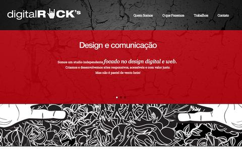 Screenshot of Home Page d-rocks.com.br - Digital Rocks - captured Oct. 5, 2014