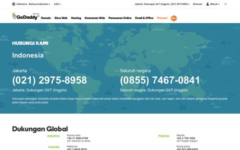 Screenshot of Contact Page godaddy.com - Dukungan Global GoDaddy| Hubungi Kami – GoDaddy ID - captured May 8, 2017