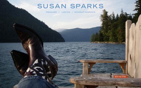 Screenshot of Home Page susansparks.com - Susansparks.com Home - captured Oct. 7, 2014