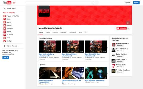 Screenshot of YouTube Page youtube.com - Melodia Musik Jakarta  - YouTube - captured Nov. 2, 2014