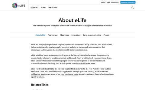 About | eLife