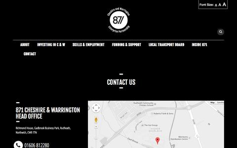 Screenshot of Contact Page 871candwep.co.uk - contact   Cheshire & Warrington EP - captured Oct. 27, 2014
