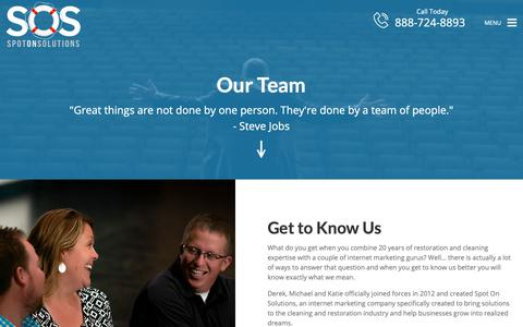 Screenshot of Team Page spotonsolutions.com - Our Team   Spot On Solutions - captured Nov. 18, 2018