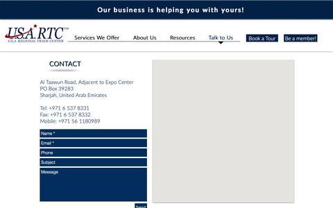 Screenshot of Contact Page usartc.com - usartc | Talk to Us - captured May 29, 2019