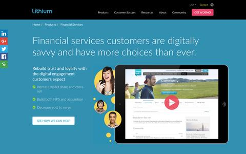 Social Media Solutions for Financial Services | Lithium