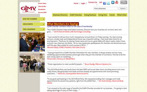 Screenshot of About Page glmvchamber.org - GLMV Chamber of Commerce - About Us - captured Oct. 1, 2014