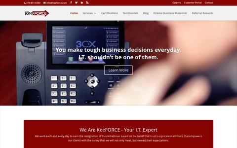 Screenshot of Home Page keeforce.com - Keeforce - IT Management - captured Dec. 5, 2015