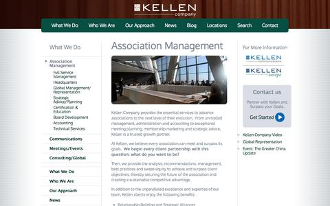 Screenshot of Team Page kellencompany.com - Association Management | kellencompany.com - captured Sept. 30, 2014