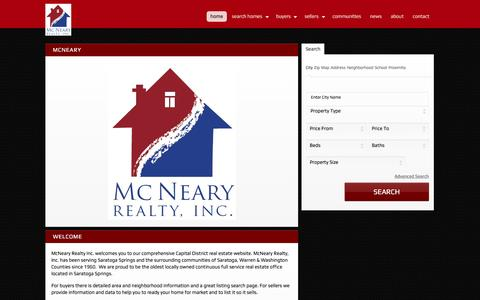 Screenshot of Maps & Directions Page mcnearyrealty.com - McNeary Realty Inc., Your Real Estate Company for Ballston Spa Homes for Sale, Malta Homes for Sale, Clifton Park Homes for Sale, Scotia Homes for Sal - captured May 27, 2017