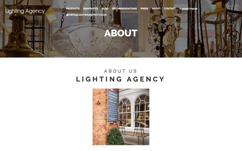 Screenshot of About Page lightingagency.co.uk - Lighting Agency | About Us - captured Dec. 8, 2018
