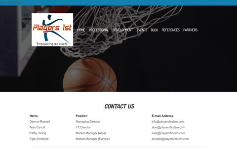 Screenshot of Contact Page Locations Page playersfirstsm.com - Contact Us - www.playersfirstsm.com - captured Oct. 22, 2014