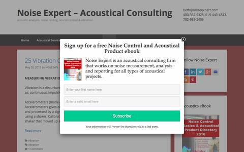Screenshot of Blog noiseexpert.com - Blog - Noise Expert – Acoustical Consulting - captured Feb. 17, 2016