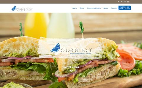 Screenshot of Menu Page bluelemon.com - Blue Lemon - Pure Clean Food With a Twist - captured Sept. 30, 2014