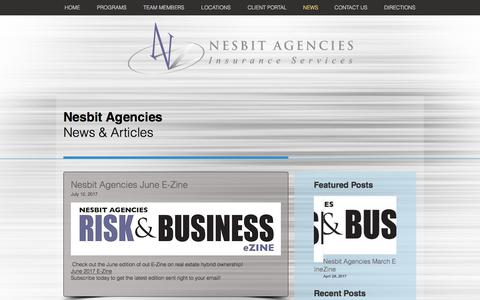 Screenshot of Press Page nesbitagencies.com - Nesbit Agencies, Inc. | Blog - captured Oct. 25, 2017