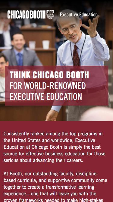 Executive Education at Chicago Booth | Custom Programs