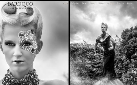 Screenshot of Home Page baroqco.com - BaroQco Custom Jewelry - captured July 28, 2016