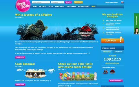 Screenshot of Press Page verajohn.com - Casino news | Vera&John - captured Sept. 18, 2014