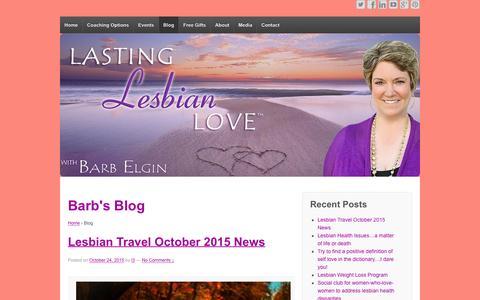 Screenshot of Blog lastinglesbianlove.com - Lesbian Therapy Blog - captured Jan. 28, 2016