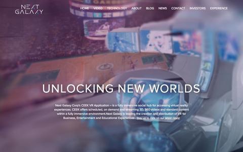 Screenshot of Home Page nextgalaxycorp.com - Home | Next Galaxy Corp - captured Jan. 26, 2015