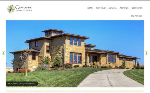 Screenshot of Home Page compassarchitecture.com - Compass Architecture | Overland Park KS - captured Oct. 2, 2014