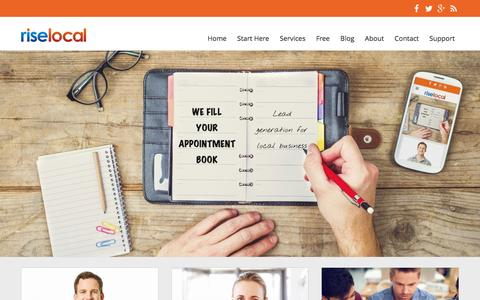 Screenshot of Home Page riselocal.com.au - Rise Local | Digital Marketing Agency Sydney - captured Feb. 15, 2016