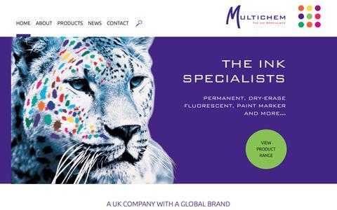 Screenshot of Home Page multichem.net - Multichem Ltd. – The Ink Specialists - captured Nov. 18, 2018