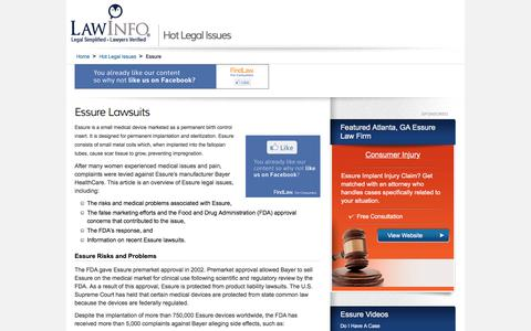 Essure Lawsuit - Essure Defects - LawInfo