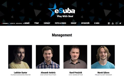 Screenshot of Team Page esuba.eu - Management | eSuba | esport team - captured July 24, 2018