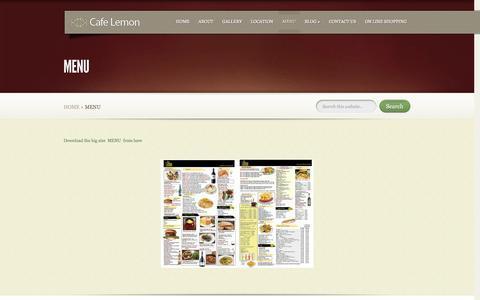 Screenshot of Menu Page cafelemon.co.uk - Menu | Cafe Lemon - captured Oct. 28, 2014